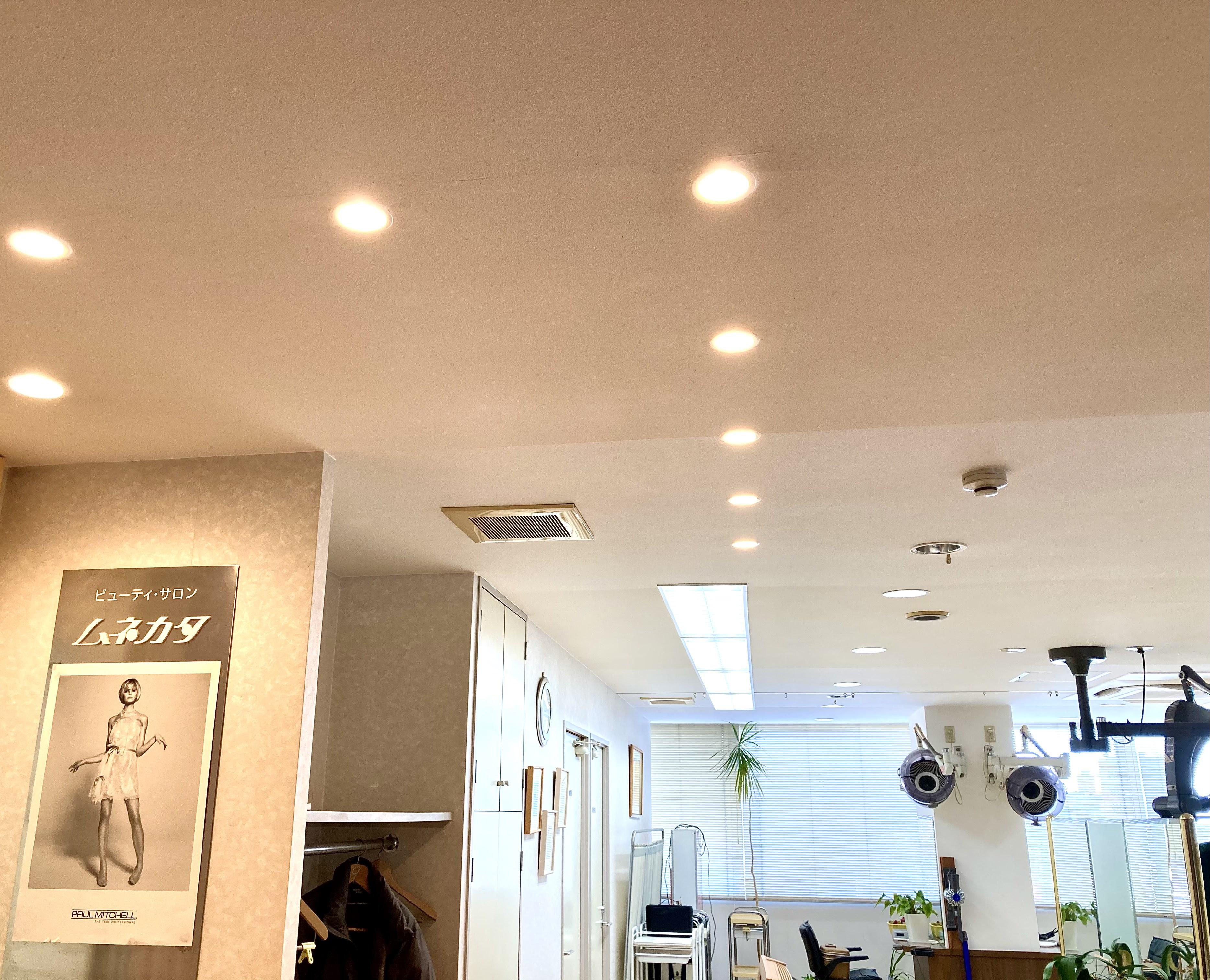 店舗照明LED化に伴う電気工事